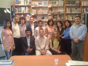 Journalists / community coordinators after our training session at the American Center in Baku.