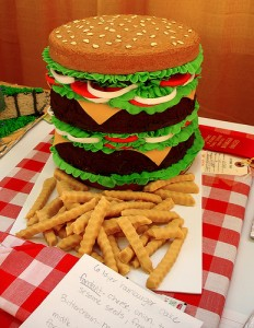 Hamburger cake (photo by bunchofpants)