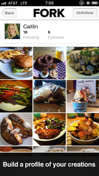 Fork: iPhone app for food, photos and friends